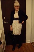 dress - belt - shoes - necklace - purse