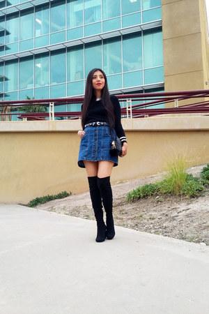 Stradivarius skirt - Zara boots - Sheinside sweater - Zara bag - Forever 21 belt