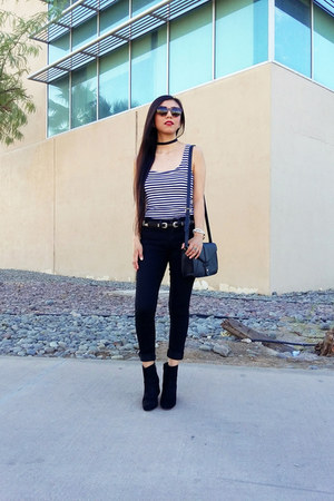 Zara top - Zara boots - Forever 21 bag - Forever 21 belt - asos necklace