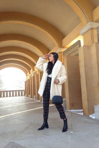 Zara boots - Topshop coat - Topshop pants
