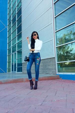 Zara boots - LOB jeans - Zara bag - LOB sunglasses - Zara top