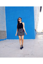 Zara flats - LOB skirt - romwe top
