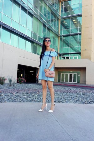 Mango bag - Choies dress - vogue eyewear sunglasses - Zara pumps
