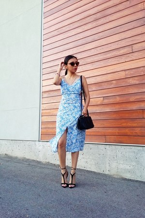 winners bag - Topshop dress - Zara sandals