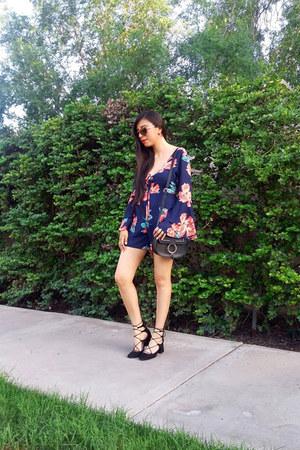 shein romper - Zara shoes - pull&bear bag