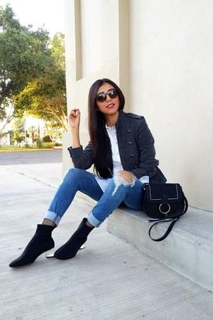 LOB jeans - Zara boots - Mango jacket - pull&bear bag - LOB blouse