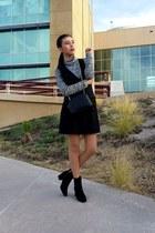 Zara boots - Stradivarius dress - Zara bag - Stradivarius blouse