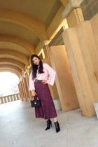Mango boots - Topshop sweater - Zara bag - Topshop skirt