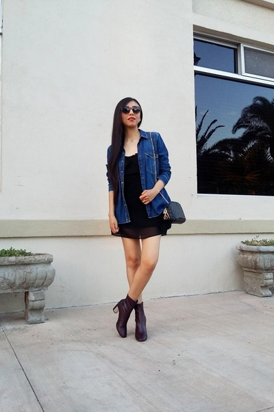 Zara shirt - Zara boots - shein dress - Zara bag