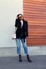 Zara-boots-vero-moda-jeans-topshop-blazer-guess-bag