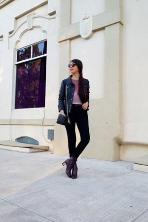 Guess jacket - Zara boots - Zara jeans - pull&bear bodysuit