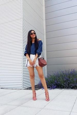 LOB top - Zara bag - Topshop shorts - heels - Stradivarius sandals