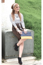 vintage skirt - Bershka bag