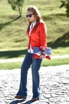 Zara blazer - vintage jeans - Bershka bag