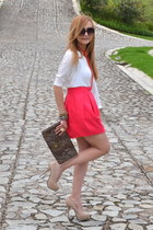 Zara skirt - Bershka bag