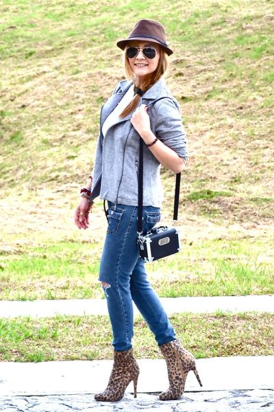 Bershka boots - vintage jeans - Bershka jacket