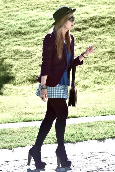 Forever21 boots - Zara blazer - vintage skirt