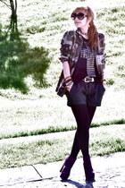 pull&bear blouse - pull&bear jacket - Zara shorts