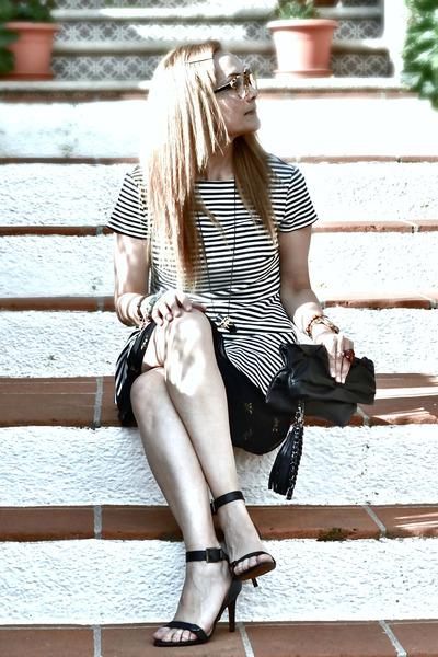 Stradivarius heels - Bershka bag - Zara blouse