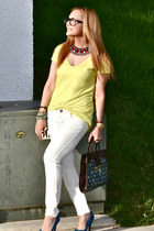 Zara jeans - Zara shirt - Bershka bag