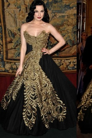 black marchesa dress