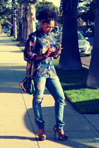 Forever21 heels - cotton on shirt - Urban Outfitters bag