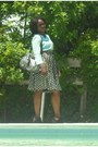 Polka-dots-shirt-kathy-bag-sunglasses-blouse-belt-heels
