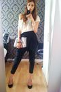 White-boutique-top-black-pants-black-kurt-geiger-shoes-nicole-farhi-access