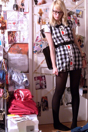 handmade dress - charity shop belt - M&S shirt