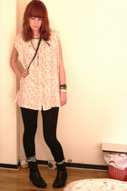 charity shop shirt - Primark shoes