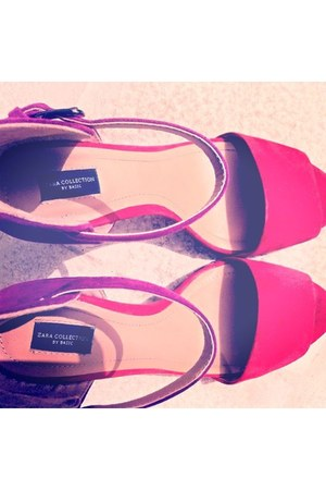 purple my lovely shoes Zara shoes