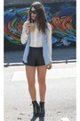 Stradivarius-shirt-romwe-shorts-zara-blouse