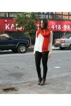 H&M scarf - H&M jeans - Zara blouse