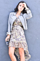 beige Lush dress - light blue Celebrity Pink jacket