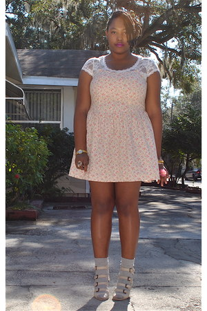 Wet Seal t-shirt - Wet Seal dress - Forever 21 socks - asos wedges - Charlotte R