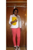 JCPenney blazer - Old Navy t-shirt - Walmart jeans - GoJane shoes - Target purse