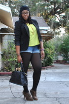 camel wild diva boots - black Worthington blazer - black Bueno bag