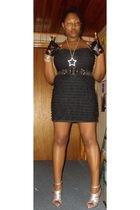 faith 21 dress - Betsey Johnson belt - Urbanogcom shoes - Ebag gloves - rainbow