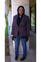 pink vintage blazer - black Old Navy cardigan - blue Old Navy jeans - black Targ