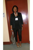 black K-mart blazer - black Old Navy t-shirt - black Candies leggings - beige Ur