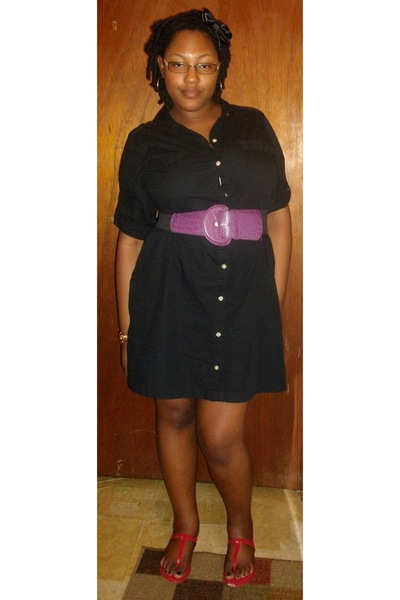 Old Navy dress - Forever 21 belt - Random Shoe Store shoes - Forever 21 hat - We