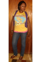 Rue 21 t-shirt - Max Rave vest - Old Navy jeans - Max Rave shoes - accessories