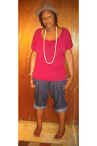 JC Penney top - jeans - Old Navy shoes - random brand hat - Forever21 necklace -