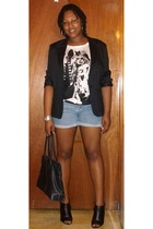 K-mart blazer - Wet Seal t-shirt - Wet Seal jeans - Traffic Shoes shoes - vintag
