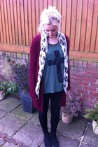 next cardigan - next boots - Topshop leggings - Miss Selfridge scarf
