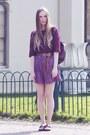 Vintage-bag-uniqlo-shorts-maroon-h-m-top-thrifted-belt-topshop-flats
