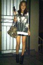lita Jeffrey Campbell boots - Topshop shirt - leopard CMG bag - DIY shorts