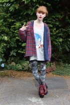 silver Primark top - brick red Jeffrey Campbell shoes