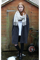 charcoal gray asos coat - gray coat