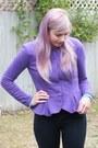 Purple-peplum-asos-top-black-primark-boots-black-jeans